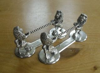 Victorian Silver Plated Lion Form Knife Rests - William Hutton photo