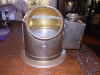 Vintage Brass Binnacle Bergen Nautik Marine Compass photo