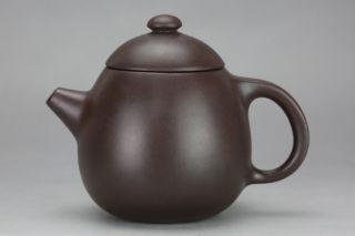 Chinese Yixing Handmade Xishi Hu Tea Pot Zisha Purple Clay Teapot photo