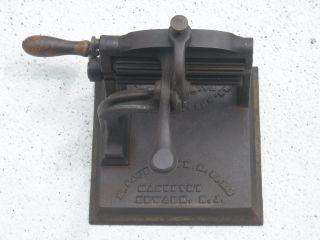 Antique Cast Iron,  Brass Rollers Fluter Crimper Patented Nov.  20,  1866,  Knox photo