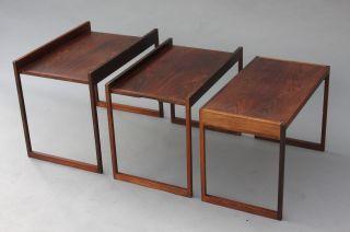 Poul Jensen Selig Rosewood Stacking Nesting Coffee Table - Wegner Danish Modern photo