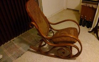 Bentwood Rocker In Shape And On The Wicker photo