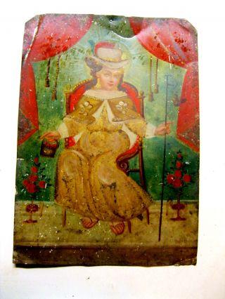 Antique Retablo On Tin With The Image Of Santo Nino De Atocha In photo