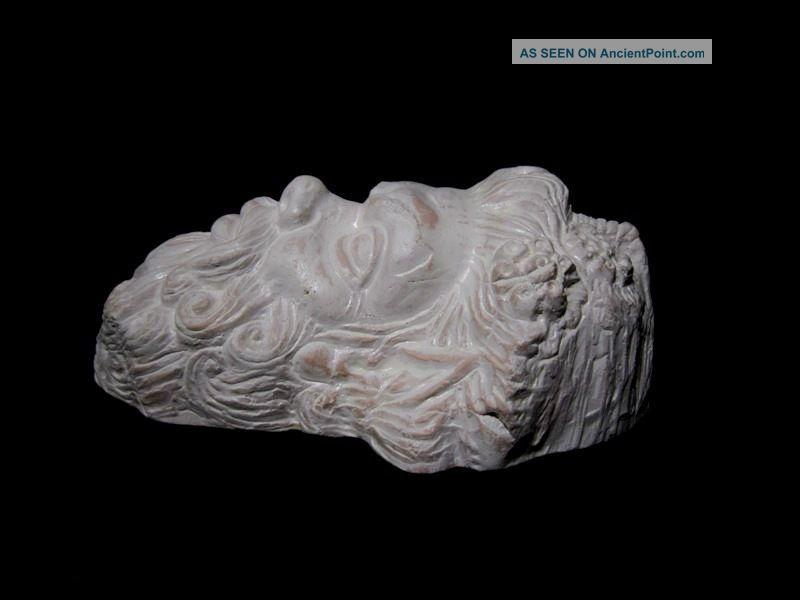 Remarkable terracotta face applique of roman god pan replica