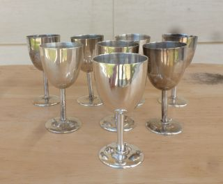 8 Sterling Silver Shot Goblets,  For The Office Bar Or Home Bar, photo