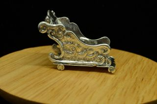 925 Sterling Silver Miniature Holiday Sleigh - Design 11279 photo