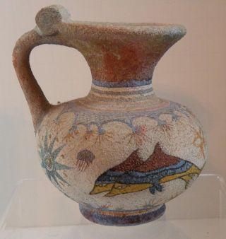 Dsa 205 Ancient Minoan (crete) Greek Reproduction Pitcher,  Dolphins photo