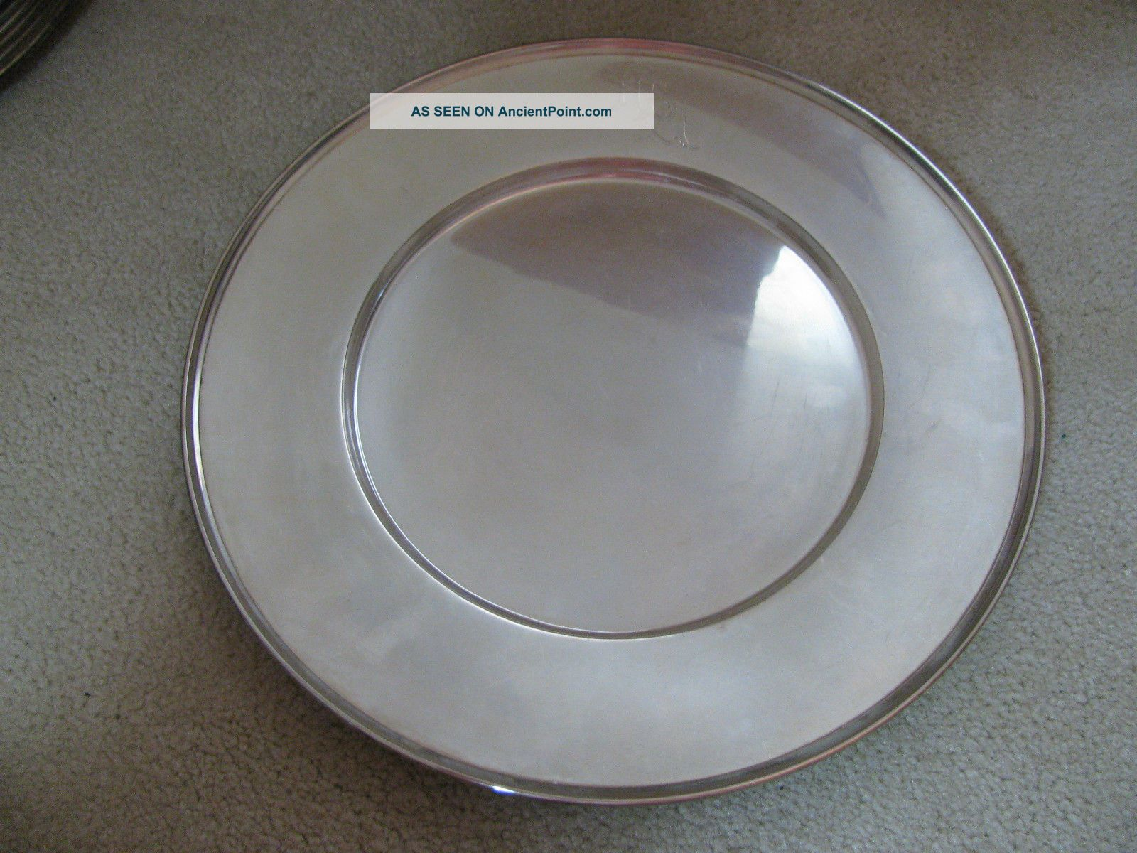 Watson Sterling Silver Large Plate / Charger 11