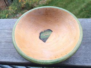 Rare Antique Nos Paper Label Munising Mi Vintage Wood Bowl Primitive Birdseye photo