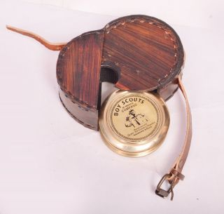 Antique Vintage Stanley London Pocket Compass And Robert Frost Poem 3
