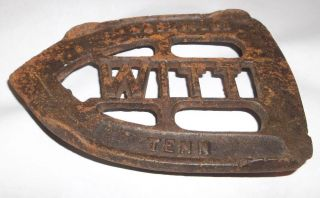 Antique Vtg Witt Nashville Tennessee Cast Iron Sad Iron Footed Trivet photo