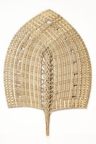 Large Museum - Quality Pandanus Fan From Tonga - photo