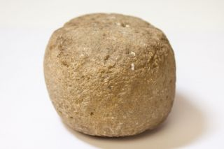 Rare Extremely Wide & Thick Ancient Hawaii Ulumaica Game Stone photo