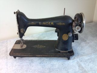 1930 ' S Collectible The Singer Manufacturing Co Sewing Machine W Electric Motor photo