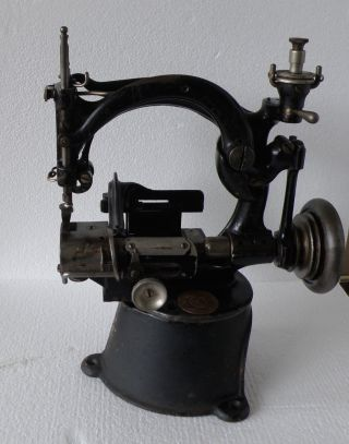 Rare Antique Industrial Sewing Machine Willcox & Gibbs Hat Model Stand Inc photo