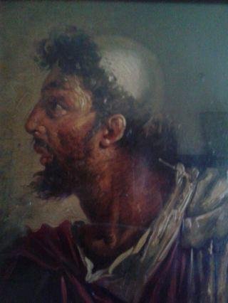 Sperlonga Italian Mythology Portrait Ulysses Antique Oil Painting 19th C photo