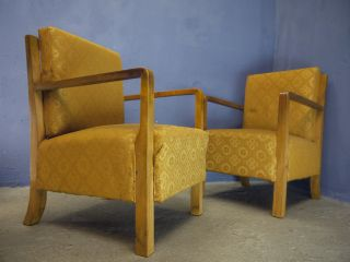 Antique Vintage Art Deco 1920s 1930s Armchairs photo