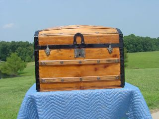 Awesome Restored Antique Trunk Pat ' D July 1872 As Much As 143years Old photo