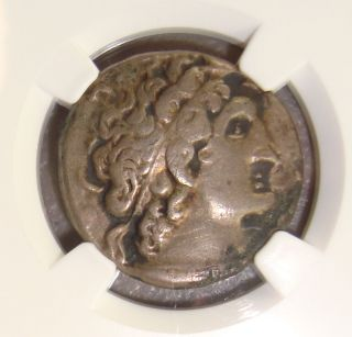 80 - 51 Bc Ptolemy Xii Auletes Ancient Greek Silver Tetradrachm Ngc Vf photo