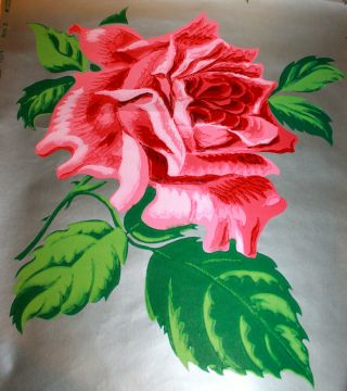 Vintage 1920 ' S - 1940 ' S Glencraft Fantasy Rose Imperial Washable Wallpaper Us Made photo