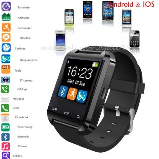 Usb Touch Screen Bluetooth Smart Wrist Watch,  Camera For Mobiles Android Iphone photo
