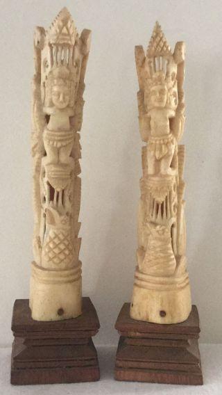 Vintage Pacific Island Bone Carvings photo