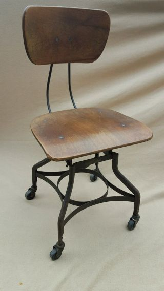 Vintage Toledo Uhl Drafting Stool Chair Industrial Lab Shop Seat photo