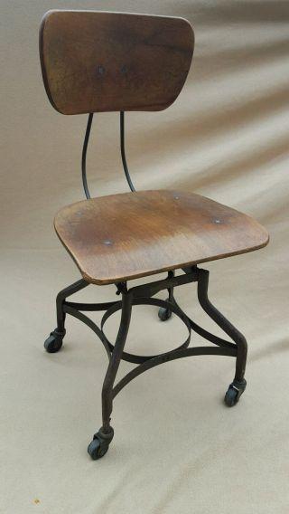 Vintage Toledo Uhl Drafting Stool Chair Industrial Lab Shop Seat photo