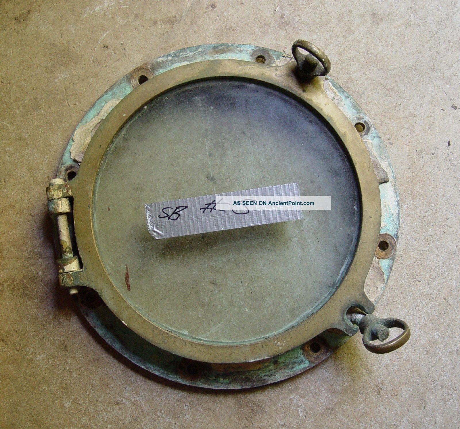 Vintage Brass Porthole,  Treasure Hunting Ship,  Arctic Discoverer,  Tommy Thompson Portholes photo