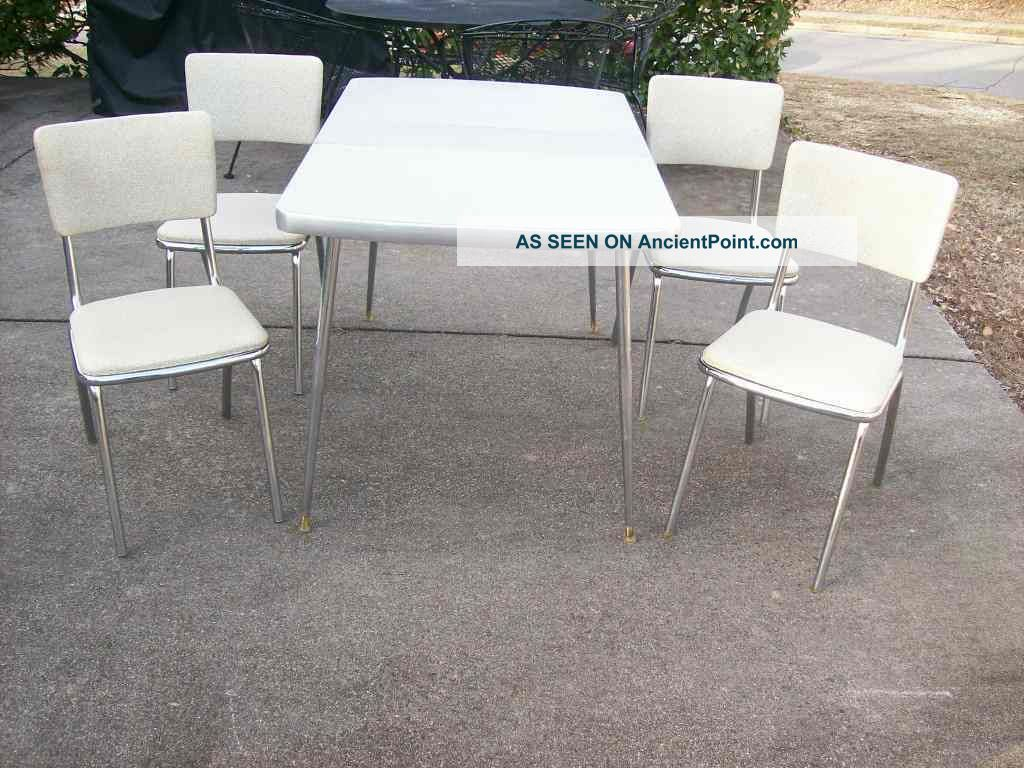 Formica Top Table And 4 Chairs Post-1950 photo