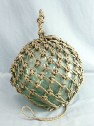 F1 Japanese Antique Glass Fishing Float Buoy Ball ø 32cm 12.  5