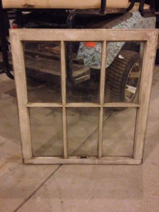 One Vintage White 6 Pane Window.  Pinterest,  Etsy photo
