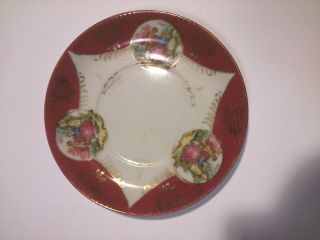 Vintage Royal Sealy China Vanity,  Dresser Dish Victorian Painting W/gold Accents photo