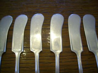 6 Rogers 1914 Ashland Individual Butter Spreader Knives Is Silverplate Flatware photo
