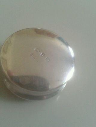 Solid Silver Victorian Pill Box. photo