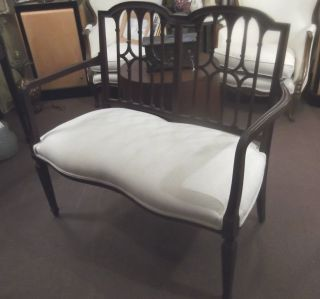 Mahogany Hepplewhite Settee,  Circa 1900 photo