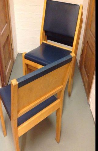 Alvar Aalto / Artek / Four Chairs / Model 611 / Vintage photo