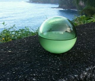 Japanese Glass Float With Water Inside,  Found In Hawaii photo