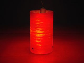 Fantastic Red/orange Spun Fibreglass Lamp Shade Vintage Retro 1960s 1970s 9