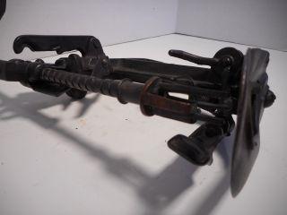 Antique / Vintage Reading Advance Apple Peeler / Parer Cast Iron Patent 1883 photo