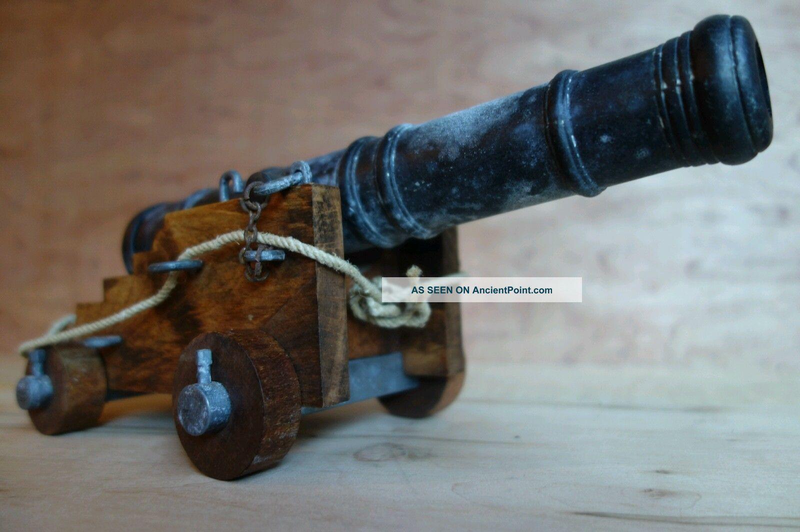Signal Warning Black Powder Cannon Wood Steel Deco Civil War 18th