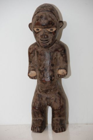Congo: Very Rare Old Tribal African Vili Figure. photo