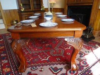 19thc 6 - 8 Seat Victorian Mahogany Wind - Out Dining Table In Lovely Cond photo