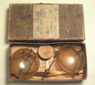 Antique Apothecary Balance Scale Portable Chicago Apparatus Co Germany Vintage photo