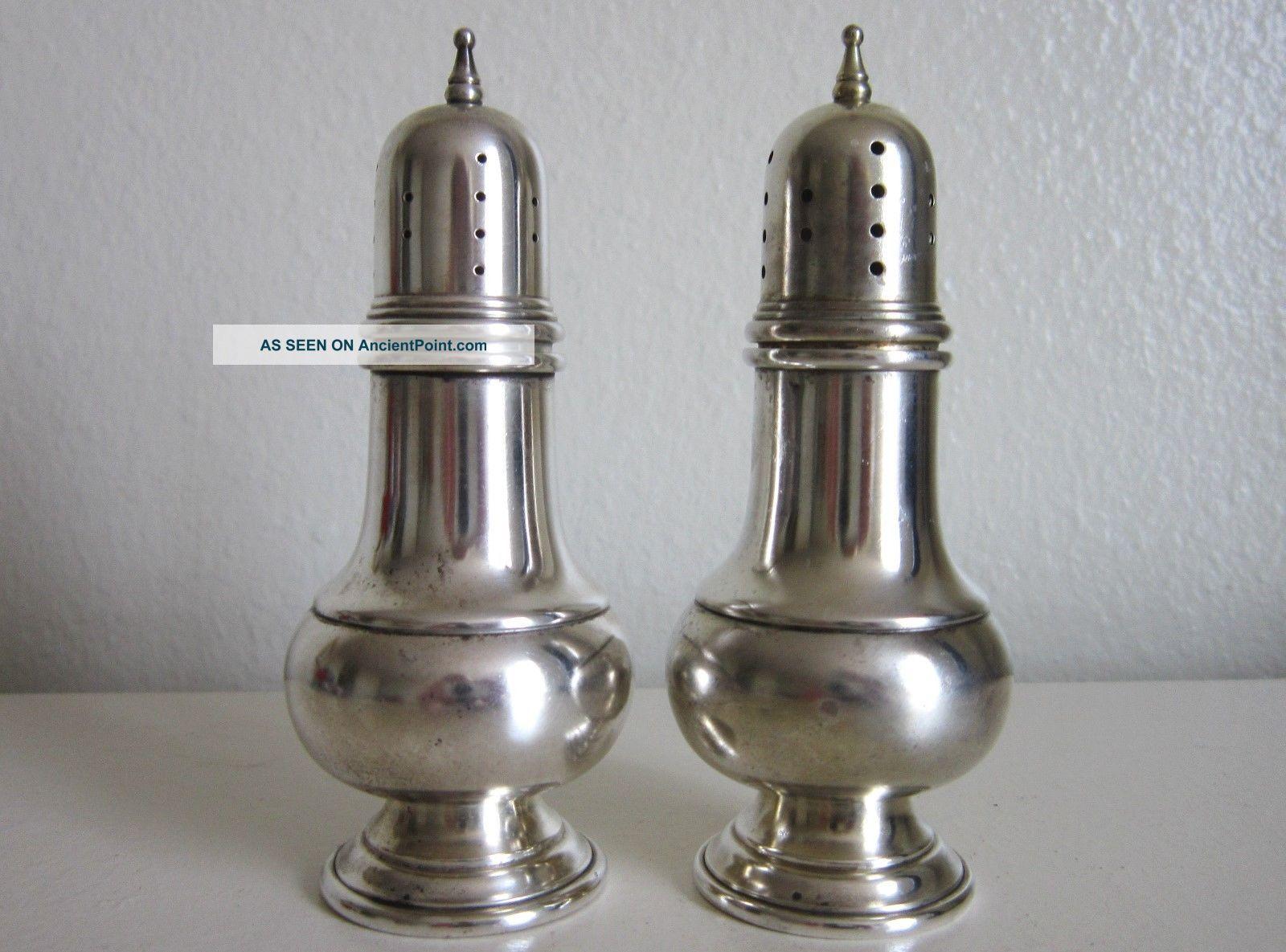 Vintage Sterling Silver Salt & Pepper Shakers A.  T.  Gunner & Co Salt & Pepper Shakers photo