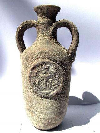 Rare Biblical Jerusalem Antique Jar Holy Land Roman Clay Herodian Pottery Jug photo