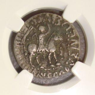 58 - 12 Bc Indo - Scythians Azes Ancient Greek Silver Tetradrachm Ngc Vf photo