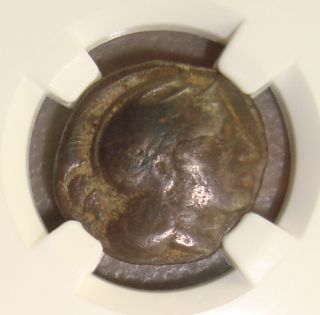 443 - 400 Bc Lucania,  Thurium Ancient Greek Silver Stater Ngc F photo