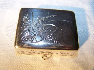 Antique Japanese Sterling 990 Bonbonniere Gift Box photo