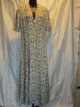Floral Shirtwaist Dress,  Country Road Australia Sz 8 photo